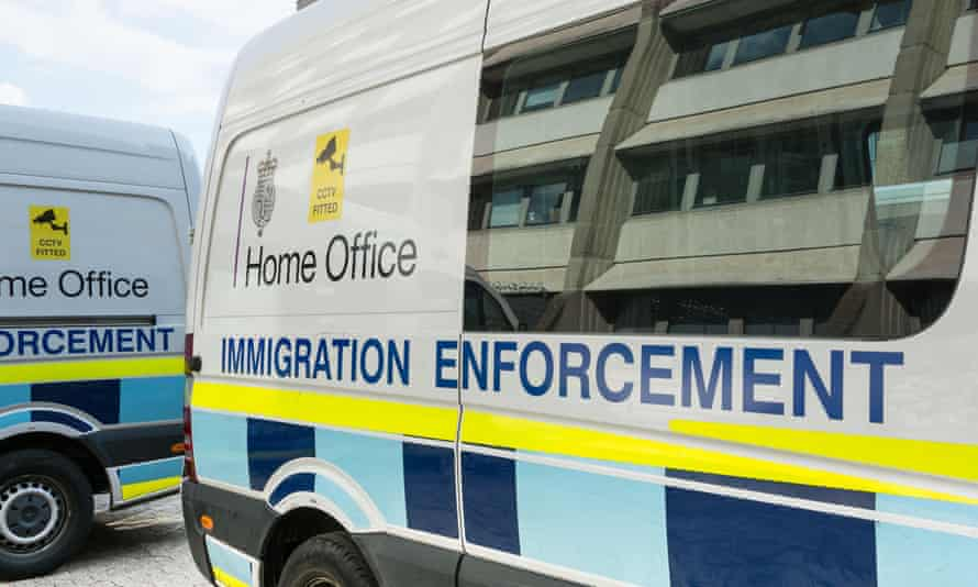 Home Office immigration enforcement vehicles.