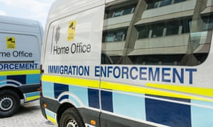 Home Office Immigration enforcement vehicles in Southwark, London,