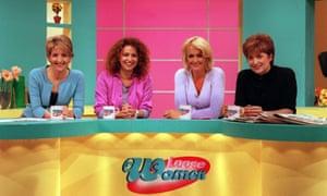 Loose Women... Kaye Adams, Nadia Sawalha, Jane Moore and Phillippa Kennedy in 1999.