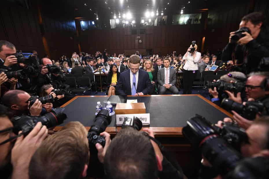 Facebook CEO Mark Zuckerberg arrives to testify on Capitol Hill on 10 April 2018 in Washington DC.