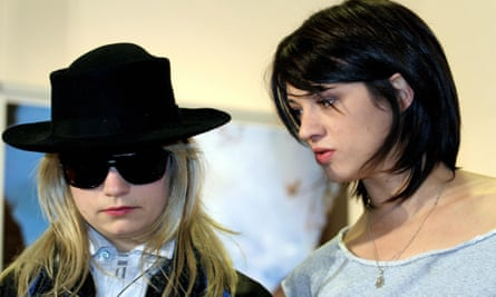 'I'm a fool.How could I not see it?' ... Italian director/actor Asia Argento (right) with JT LeRoy during a 2005 photocall for her film The Heart is Deceitful Above All Things.