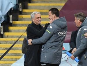 Jose Mourinho, greets John Terry.