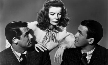 Cary Grant, Katharine Hepburn and James Stewart in The Philadelphia Story