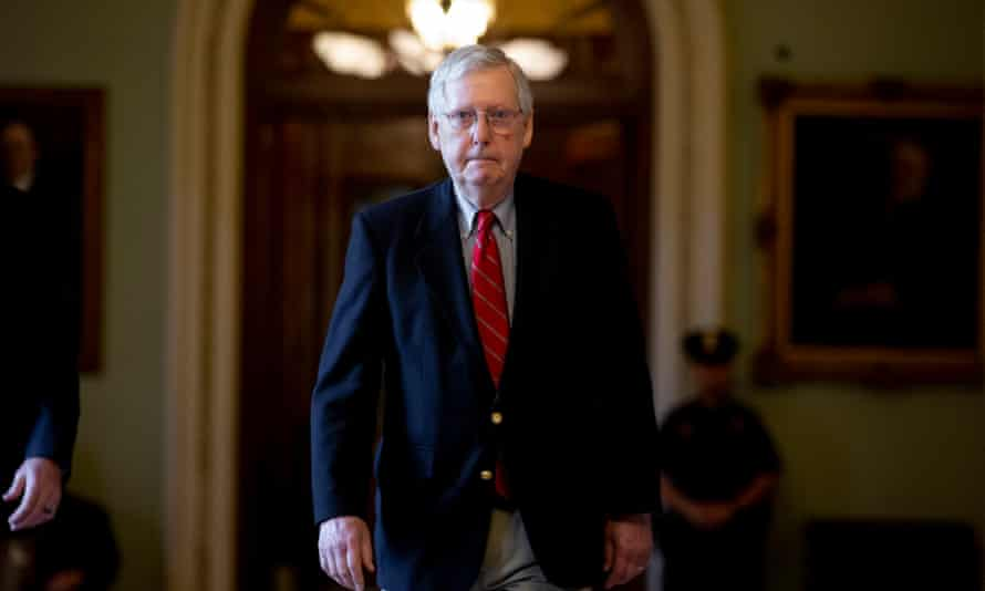 "Mitch McConnell, the Senate majority leader, said that negotiators are making ""important progress"" on an economic relief package."