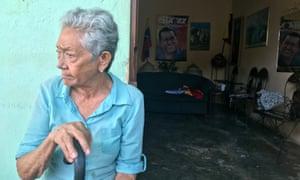 Rosa Rivas, 85, a dedicated Chávez supporter