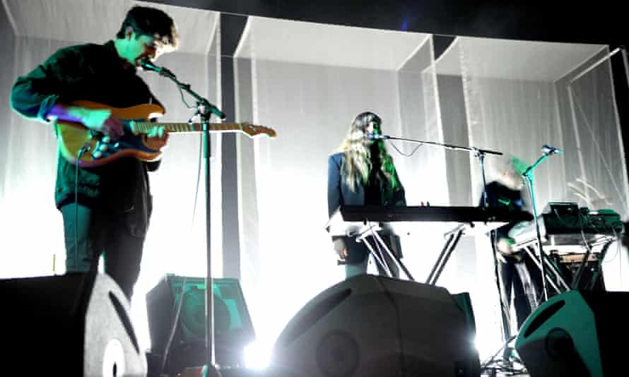 Beach House's Victoria Legrand and Alex Scally perform at Manchester Ritz.