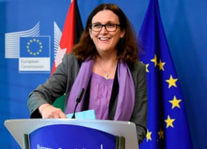 European Commissioner for Trade Cecilia Malmstrom .