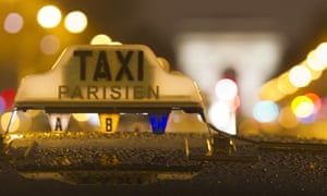 A taxi in Paris, France