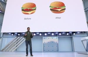 Sundar Pichai at the Google I/O 2018 Conference.