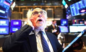 The opening bell at the New York Stock Exchange today, as stocks fell sharply