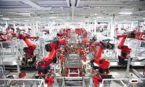 A Tesla factory.