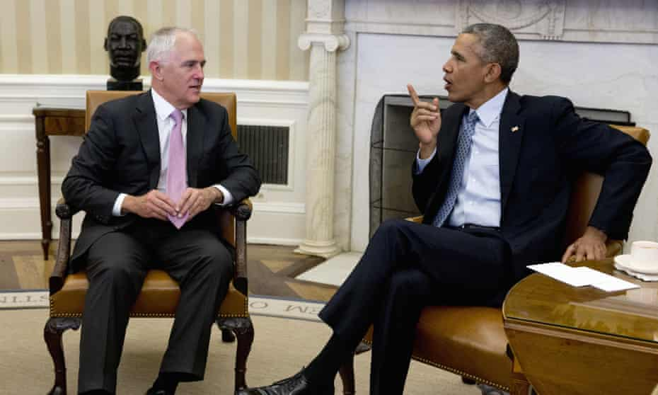 Turnbull meets Barack Obama in the Oval Office