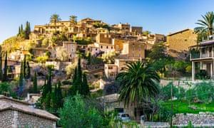 The small coastal village of Deià, Mallorca