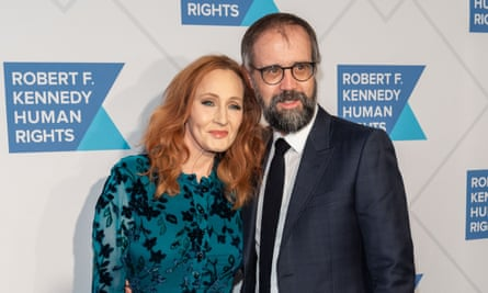 JK Rowling with her husband Neil Murray at the Ripple of Hope award gala in New York, in December 2019.