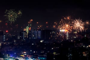 Fireworks explode in Chennai, India