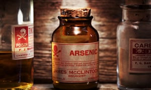 Vintage arsenic poison bottle