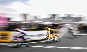 Tour de France winner Geraint Thomas competes during the Le Tour de France Saitama criterium race in November