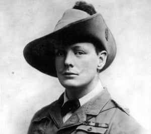 Winston Churchill circa 1899 during his service in the South African Light Horse.