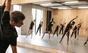 Mountview Academy students in a dance class.