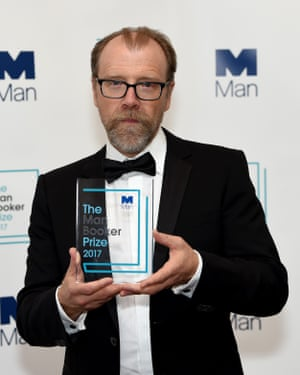 Saunders with the Man Booker prize 2017.