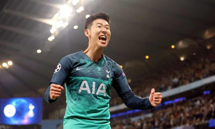 Son Heung-min scored two early goals as Spurs prevailed in the absence of Harry Kane.