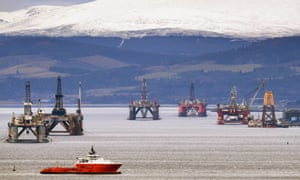 Oil Rigs In the Cromarty Firth awaiting decommission in January this year.