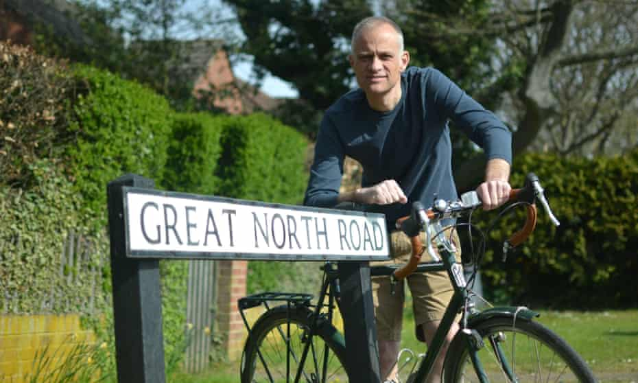 Steve Silk cycling the Great North Road