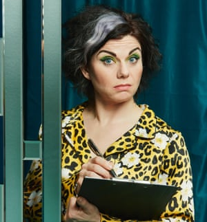 Caitlin Moran with a clipboard