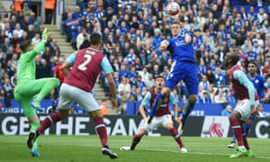 Robert Huth posed a potent threat from set pieces.