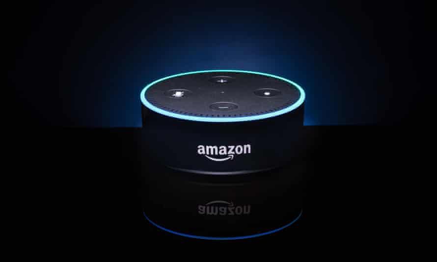 An Amazon 'Alexa' Echo Dot device