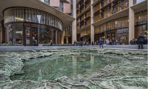 Cristina Iglesias's water feature at the base of Bloomberg HQ resembles a 'fetid swamp'.