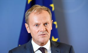 The president of the European council, Donald Tusk.