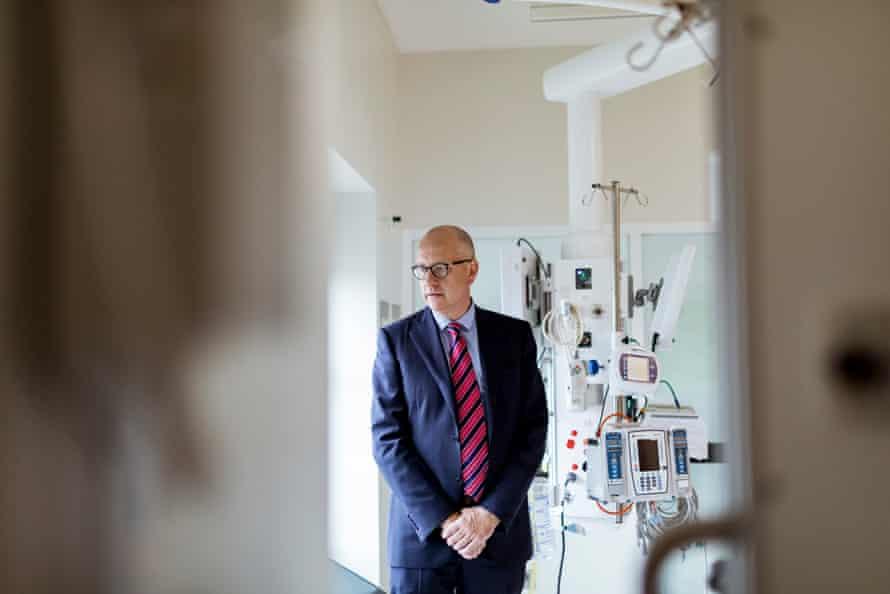 Royal Melbourne hospital head of intensive care Chris MacIsaac.