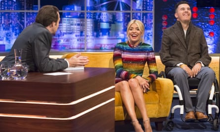 Fraser on the Jonathan Ross Show in September alongside Holly Willoughby. 'I thought: 'This is weird – little me here with these celebs. I never thought I'd do anything like that', he says.