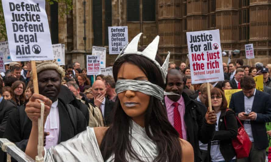 Legal aid protest outside parliament