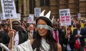legal aid protest