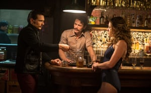 James Franco as twin brothers Frankie and Vincent, with Margarita Levieva as Abigail Parker.