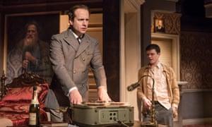 Geoffrey Streatfeild as George Blake and Emmet Byrne as Sean Bourke in Cell Mates at Hampstead theatre, London.