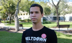 Andy Vila, 20, came from Cuba with his mother in 2004. During Trump's 2016 campaign, he shed his conservative beliefs and is now the chairman of the Young Democratic Socialists of America on his college campus.