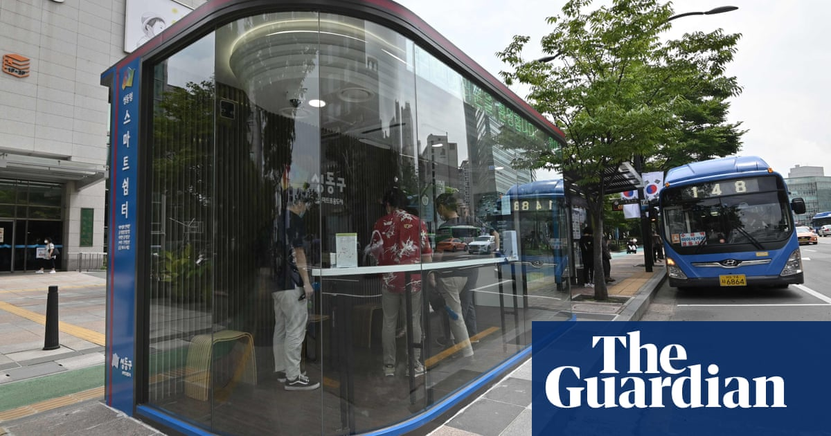 South Korea installs anti-virus bus shelters with temperature sensors and UV lamps