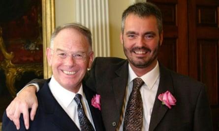 Jeremy Davies, left, and husband Simon McEnery.