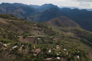 Aerial view of Guayabo, Camotán, Chiquimula.