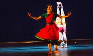 Subtle and impish … Neha Mondal Chakravarty and Renjith Babu in Mavin Khoo's piece.