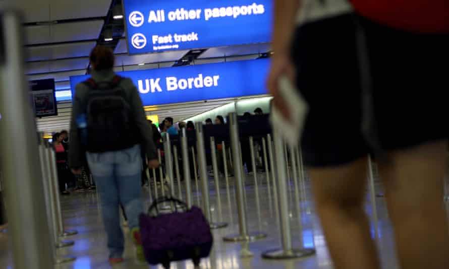 Passengers at Heathrow.