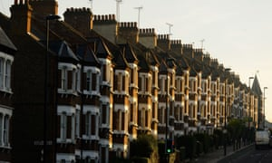 A row of terraced houses in London
