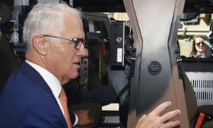 Malcolm Turnbull at Thales Underwater Systems in Sydney