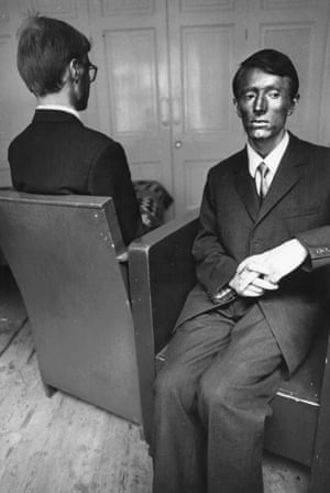 The artists Gilbert and George, October 1969.