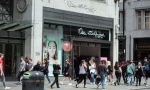 The former Miss Selfridge flagship store on Oxford Street, London, which closed in July.