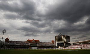 Clouds roll in during day two of the 4th Ashes test match England v Australia at Trent Bridge