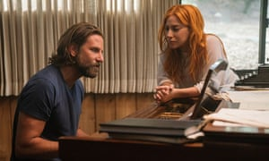 'Oscars buzz': Lady Gaga, pictured with Bradley Cooper, co-star in and director of A Star Is Born, plays an aspiring singer-songwriter in the fourth version of the movie classic.